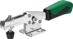 557499 Horizontal acting toggle clamp plus, Size 3, green