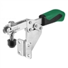 557514 Horizontal acting toggle clamp. Size 4, green