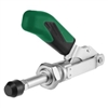 557537 Push-pull type toggle clamp. Size 0, green