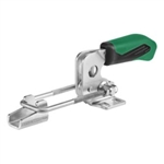 557604 Hook type toggle clamp horizontal. Size 3, green.