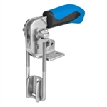 557771 Hook type toggle clamp vertical. Size 2, blue.