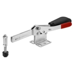 558160 Horizontal toggle clamp with safety latch. Size 4, black.