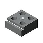 88856 Support-stop block, single-sided, wide from AMF brought to you by ITBONA-MACHINETOOL.