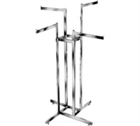 Extendable Arm Rect Tube 4-Way Clothing Racks
