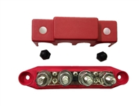 Heavy duty 4 point buss bar. Red.