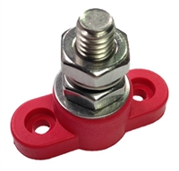 "Single Post Junction Block Small Base 3/8"" - Red"