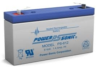 Power-Sonic 6V 1.4Ah SLA Battery
