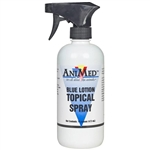 AniMed Blue Lotion 16oz Trigger Spray Topical Antiseptic