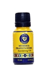 Anointing Oils Frankincense & Myrrh Cobalt blue glass bottle 15ml - 0.5 fl.oz.