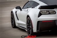 CF500 2015-2016 Corvette Z06 Carbon Fiber Side Skirt Rocker extensions