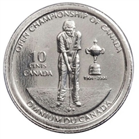 2004P Canada Golf 10-cent Proof Like