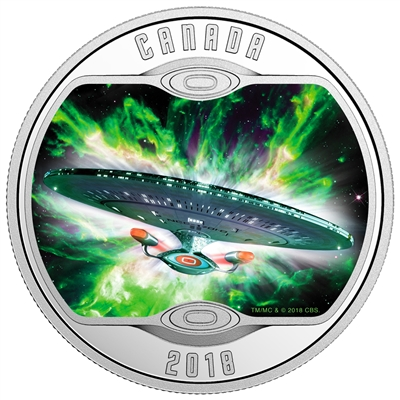 2018 Canada $10 Star Trek: The Next Generation Silver Coin (TAX Exempt)