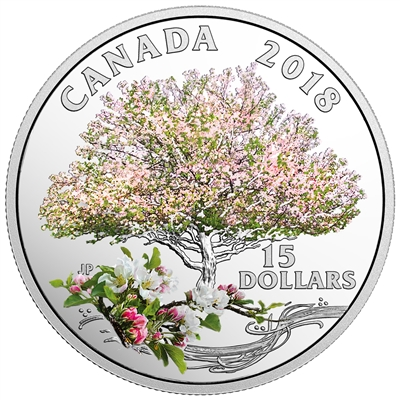 2018 Canada $15 Apple Blossom - Celebration of Spring (TAX Exempt)