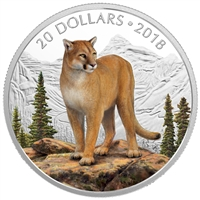 (Pre-Order) 2018 Canada $20 Courageous Cougar Silver Coin (TAX Exempt)