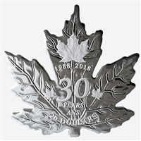 (Pre-Order) 2018 Canada $20 30th Anniversary of the Silver Maple Leaf Shaped Pure Silver (No Tax)