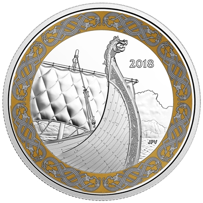 2018 Canada $20 The Dragon's Sail - Norse Figureheads (TAX Exempt)
