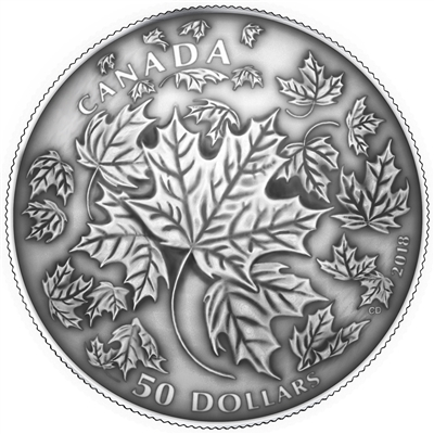 2018 Canada $50 Maple Leaves in Motion (TAX Exempt)