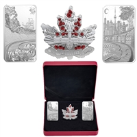 (Pre-Order) 2018 Canada Beneath thy Shining Skies Fine Silver 3-Coin Set (No Tax)