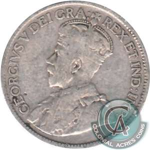 1929 Canada 25-cents Very Good (VG-8)
