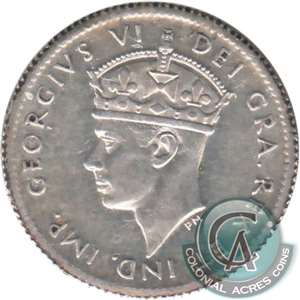 1941C Newfoundland 5-cents Almost Uncirculated (AU-50)