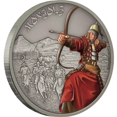 2017 Niue $2 Warriors of History - Mongols Fine Silver (No Tax)