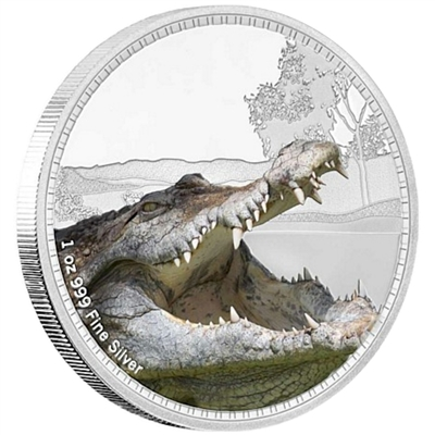 2017 Niue $2 Kings of the Continents - Saltwater Crocodile (No Tax)