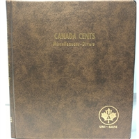 Cents Canada Blank (5 pages) Unimaster brown vinyl coin binders.