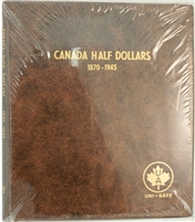 Fifty Cents 1870-1945 Unimaster brown vinyl coin binders.