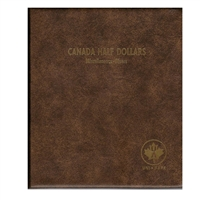 Fifty Cents Canada Blank (5 pages) Unimaster brown vinyl coin binders.