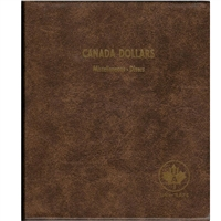 Dollars Canada Blank (5 pages) Unimaster brown vinyl coin binders.
