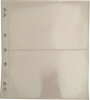 2 pocket Numis pages for Numis 4 ring binders- 5 pack NH2