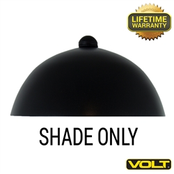 Mushroom Shade - Black Finish