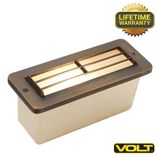 Brass Bunker Louvered Step Light