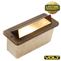 The Brass Bunker Hooded Step Light