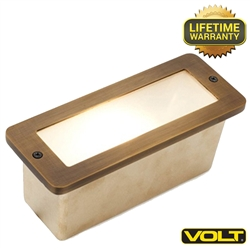 Brass Bunker Open Face Step Light