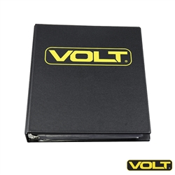 VOLT Lens and Filter Storage Binder case for dichroic color filters, lighting fixture lenses and optics