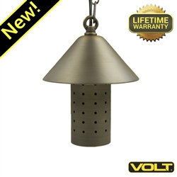 Tranquility Brass LED Hanging Light with Shade