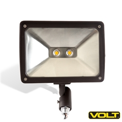 120V 30W LED Floodlight Bronze with Knuckle