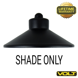 "China Hat 7"" Shade Only Black Finish"