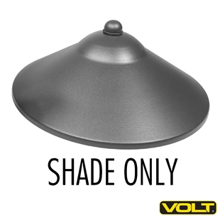 Max Spread Aluminum Shade Only Black Finish