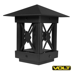 Guardsman LED Post-Top Light (Aluminum, Black) | Low Voltage Landscape Lighting