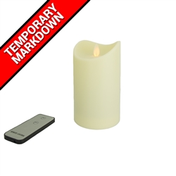 LED Simulated Moving Flame Candle with Remote Medium