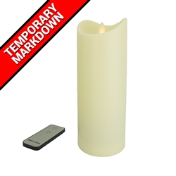 LED Simulated Moving Flame Candle with Remote Large