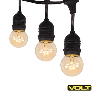VOLT 120V Bistro String Globe Lights 25ft