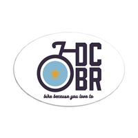 DCBR Oval Bumper Sticker