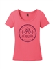 Ladies Pink Chain Logo Short Sleeve T-Shirt
