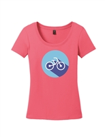 Ladies Circle Bike Short Sleeve T-Shirt