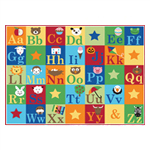 52x66 Alphabet Education Rug
