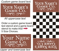 """Your Name"" Game Company Game Board Topper Stencil"