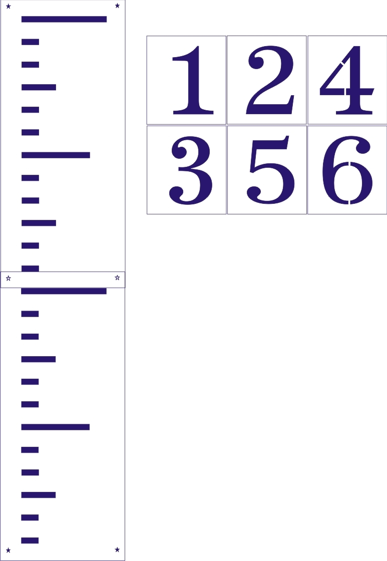 Giant ruler stencil set